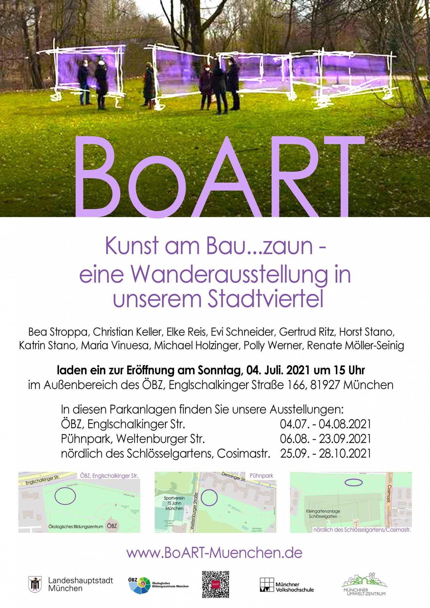 Poster Bauzaunausstellung