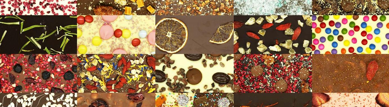 Foto von vielen Schokoladentafeln