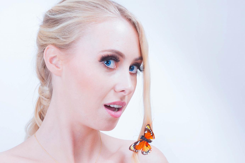 Beautyfoto mit Schmetterling